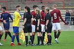 Z fotbalového utkání ČFL Sparta Praha B - SK Rakovník (3:0)