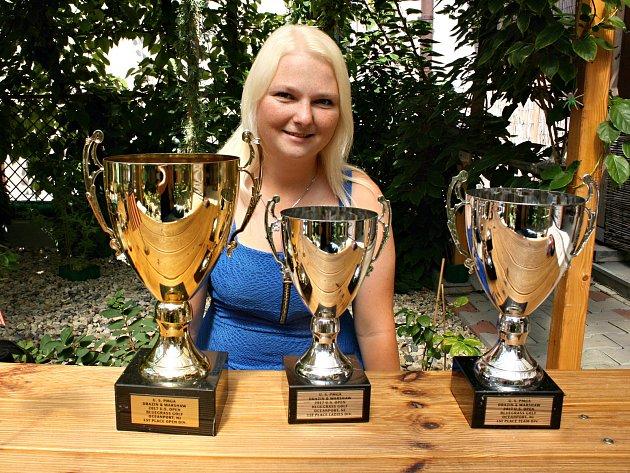 Vítězka US Open 2017 Olivia Prokopová.