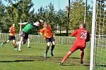 Z fotbalového utkání I.B třídy Tatran Rakovník B - Slaná B (3:1)