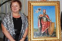 Blanka Čebišová na Pražském hradě