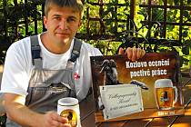 Oceněný truhlář Marek Sýkora z Příkosic.
