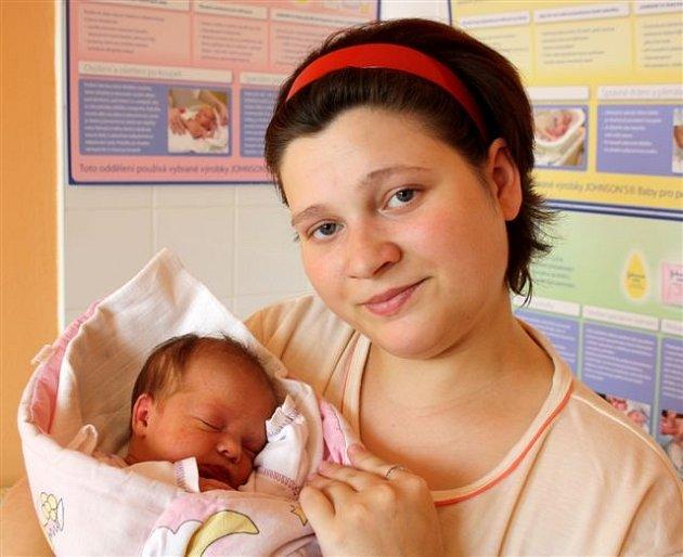 Veronika ŠMOLÍKOVÁ z Hrádku přišla na svět 6. dubna. Narodila se dvě minuty po 13 hodině.Verunka se narodila s mírami 2800 gramů a 45 cm.