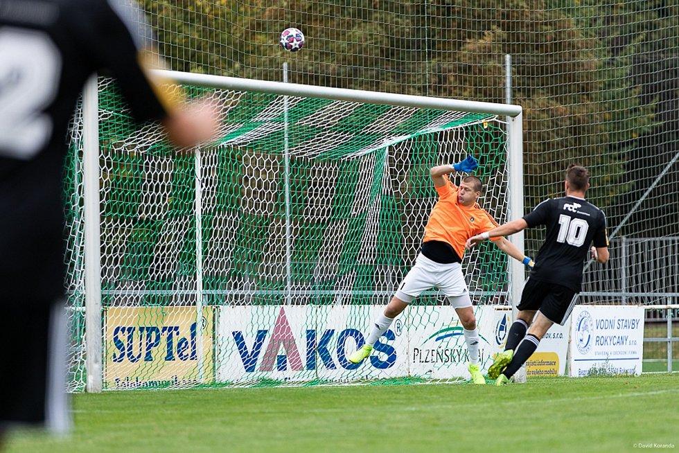 Daniel Houdek chytal druhou ligu, třetí nejvyšší soutěž a momentálně hájí branku divizních Rokycan.