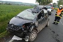 Dopravní nehoda u Příkosic.