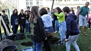 Den stromů si připomnělo osazenstvo devítiletky na zahradě.