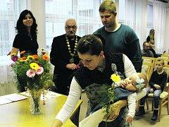 Anetka Jedličková s rodiči.