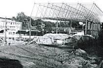 Výstavba zimního stadionu v Rokycanech