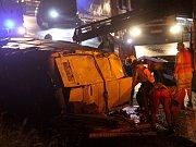 Sobotní nehoda dodávky na dálnici D5 u Mýta na Rokycansku.