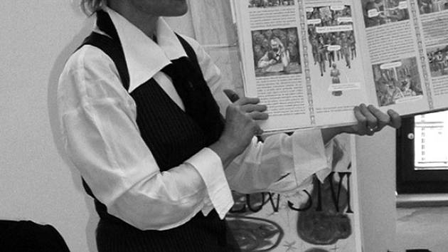 Spisovatelka a ilustrátorka Renáta Fučíková představila žákům z Masaryčky a Čechovy ulice nevšedně zpracovaný životní příběh T. G. Masaryka.