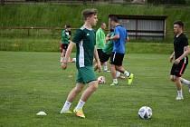 Muži FC Rokycany si v Hrádku vyzkoušeli modelový trénink s asistentem Pavla Vrby.