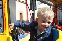Dětské atrakce na náměstí v Rokycanech