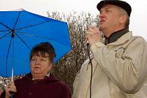 V  Míšově nenechali levicoví řečníci nit suchou na vládnoucí garnituře. Kvůli radaru ji kritizoval i krajský zastupitel Karel Šídlo.