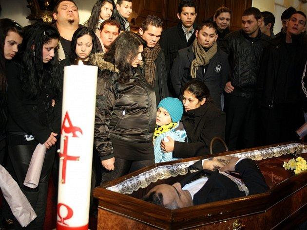 Pohřeb Františka Bílého.