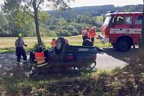 Nedělní nehoda nad Mirošovem