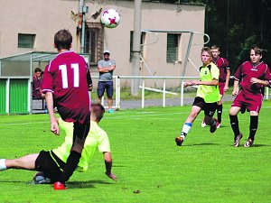 Při vítězném utkání starších žáků FC Rokycany s Horažďovicemi (5:0) byl takhle nedovoleně zastaven autor jedné branky  Milan Fair (na zemi). Souboj sledoval i Lukáš Karlíček.