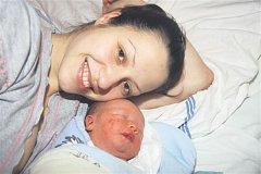 Lukáš ŠIMEK z Vochova si pro svůj příchod na svět vybral datum 28. ledna. Narodil se ve třináct hodin a padesát osm minut. Maminka Miloslava a tatínek Lukáš věděli dopředu, že jejich první dítě bude chlapeček. Malý Lukášek vážil 3100 gramů, měřil 50 cm.