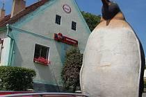 Němčovice zdobí figura tučňáka.