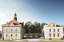 Návrh nové podoby Fitzovy vily v Rokycanech