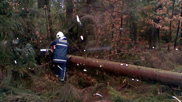 Mirošovští dobrovolníci se kvůli vichřici v sobotu nezastavili.