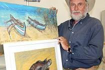 Malíř Aleš Sedláček se opět na léto vrátil do Rokycan. Do města, odkud pochází a kde začínal s malováním.