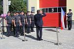 Slavnostní otevření nové hasičské zbrojnice ve Zvíkovci