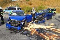 Vážná nehoda komplikovala provoz u nájezdu na dálnici