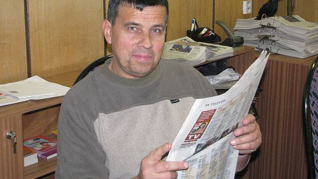 Václav Havránek, šéfredaktor Rokycanského deníku.