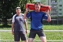 Ilustrační foto - Jaroslav Špaček trénující pod dohledem Michala Šůchy.