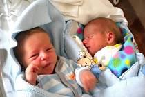 Dvojnásobnou radost mají rodiče Petra Šimková a Marian Sekanina. z Rokycan, kterým se 22. května narodila v Hořovické porodnici dvojčátka Dan a Davídek. Dan vážil 2870 gramů a měřil 47 cm.Davídek Vážil 2690 gramů a měřil 45 cm.