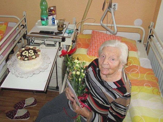 Marie Mudrová, 93let