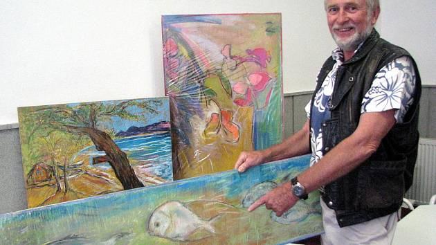 S velkou pravděpodobností zrovna jubilejní – sedmdesátá – bude čtvrteční výstava Aleše Sedláčka, malíře jižních ostrovů (jak o sobě říká) v rokycanském Zeleném domě.