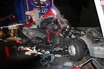 Smrtelná nehoda dvou kamionů u Ejpovic.