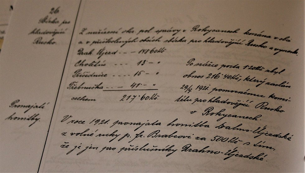 Dobové listiny spolku Ráje Drahoňův Újezd