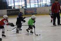 Nábor malých hokejistů v Rokycanech.