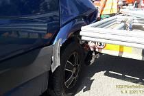 Dopravní nehoda na Šťáhlavské ulici.