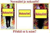 Originální plakáty proti kouření vyráběli žáci společně s pedagogy.