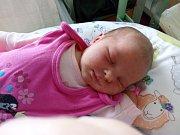 DANIELA MAJDLOVÁ z Mirošova Danielka se narodila v hořovické porodnici 4. září. Kromě rodičů Radka a Jany se na miminko moc těšila i jejich prvorozená dcera Terezka. Malá Danielka vážila na sále 3480 gramů, měřila 48 cm.