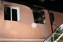 Noční požár ubytovny v Husových sadech