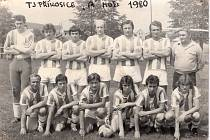 Tým A mužstva TJ Příkosice, foto z roku 1980