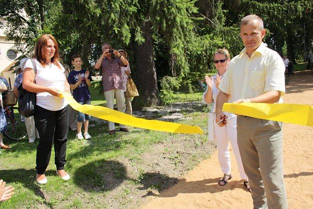 Otevírání nového parku.
