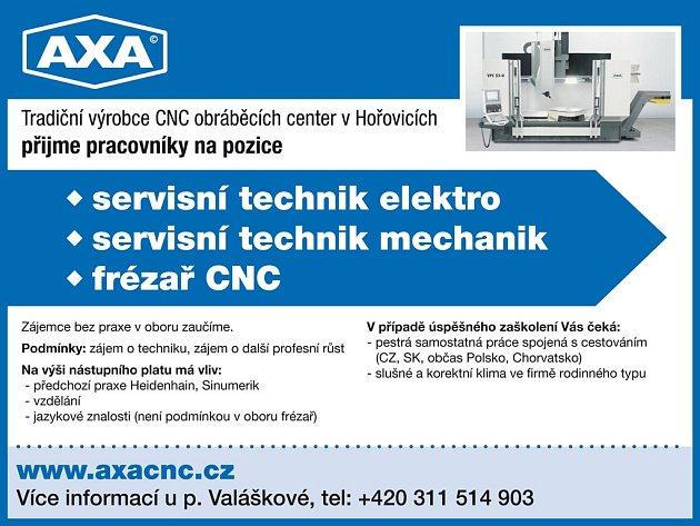 AXA CNC stroje, s r.o.