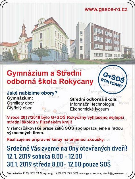 Den otevřených dveří vGymnáziu Rokycany