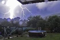Bouřka dorazila do okresu kolem osmnácté hodiny.