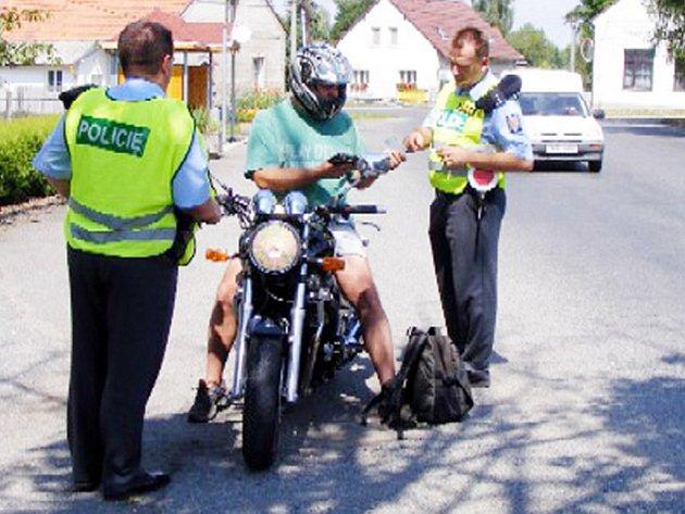 Policejní akce se týkala zekména motocyklistů.