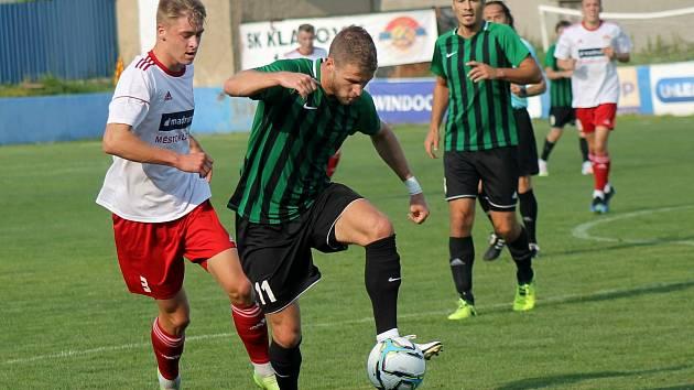 Fotbalisté FC Rokycany (na archivním snímku hráči v zelených dresech) porazili Jindřichův Hradec 2:0 a slaví třetí výhru v řadě.