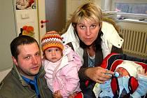 Miloš Zahradník z Spáleného Poříčí se na sále rokycanské porodnice narodil 15. března v 00 hodin a 00 minut. Milošek vážil při narození 3500 gramů, měřil 51 cm.