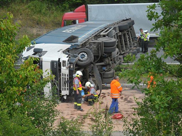 Nehoda na dálnici D5 u Mýta