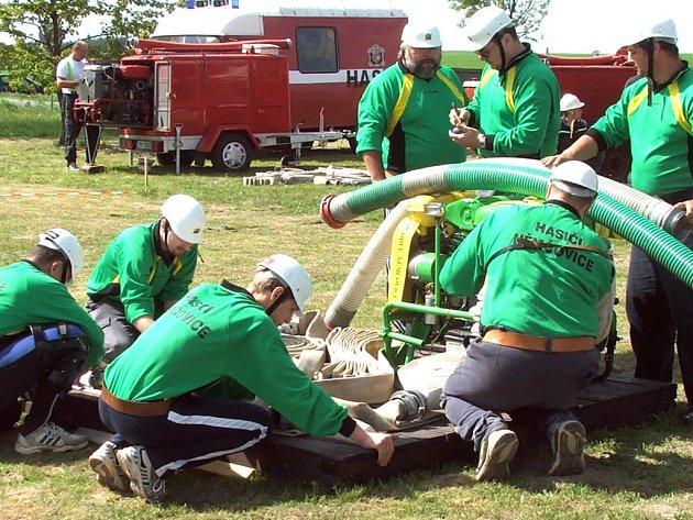 Němčovičtí hasiči vyhráli v prvním kole soutěže v požárním sportu.