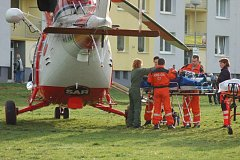 Vrtulník zasahoval v Rokycanech.
