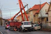 V ulici Boženy Němcové došlo v sobotu ráno k nehodě.
